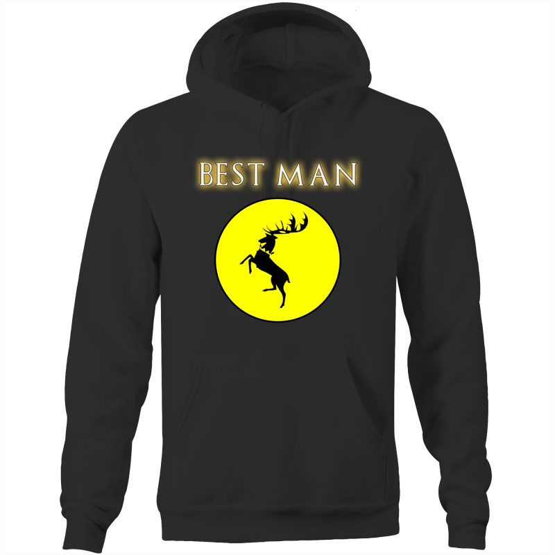 HOUSE BARATHEON - BEST MAN - Pocket Hoodie Sweatshirt