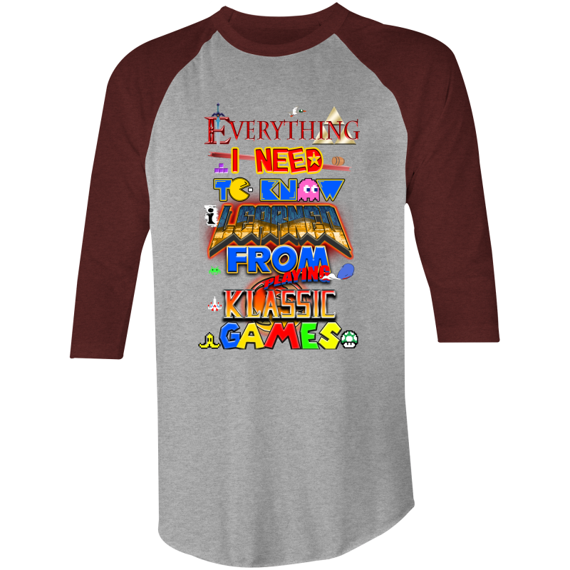 CLASSIC GAMES - 3/4 Sleeve T-Shirt