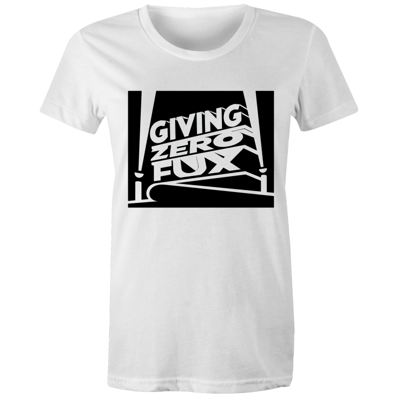 GIVING ZERO FUX - Womens T-shirt - Everything Sweaties