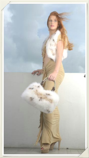 "The 'Soyna' Lynx (marabou feathers) 15"" Crop Vest"