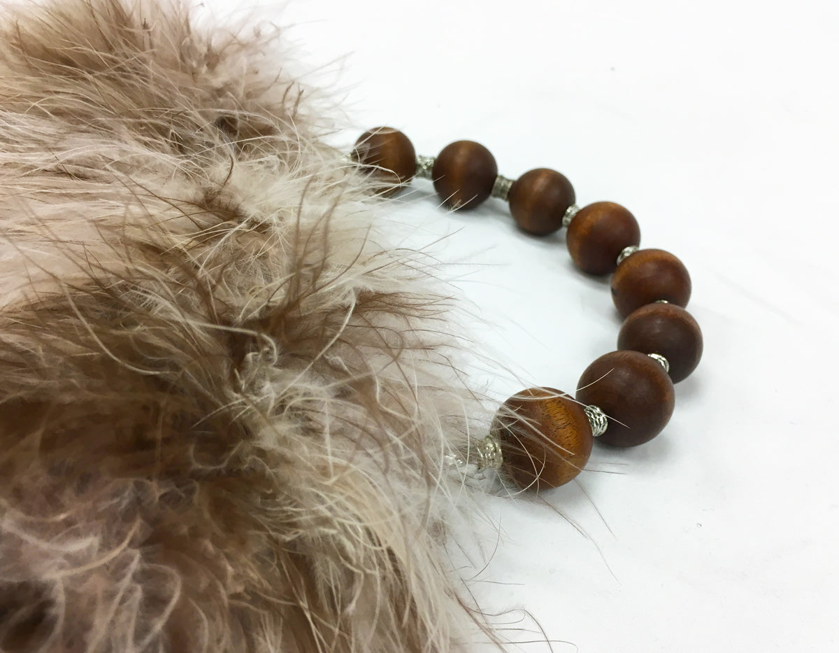 """Kafe"" Blended coffee/cream marabou feather purse"