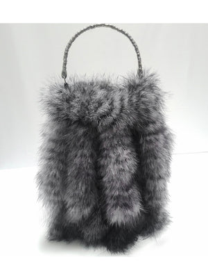 """Foxy"" purse of marabou feather 'Tails"""