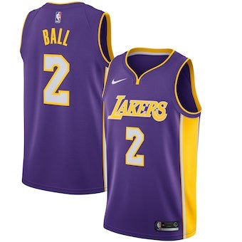 Los Angeles Lakers Lonzo Ball 2018/2019 Jersey's ALL STYLES