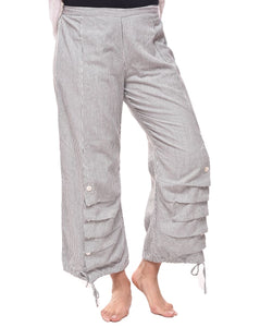 Scooter Pant in Ticking Stripe