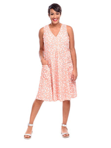 Poppie Dress in Peach Cottonseed