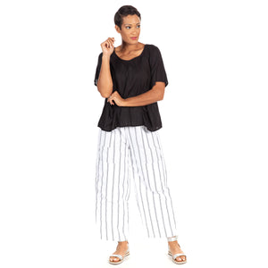 Metro Pant in Goldman Stripe
