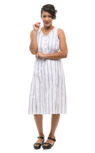Victoria Dress in Goldman Stripe
