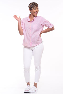 Boyfriend Shirt in Pink Carnation