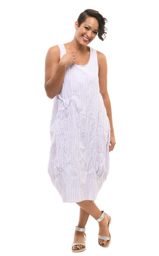 Cora Dress in Citi Stripe