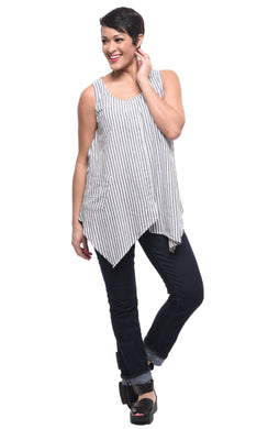 Finola Tank in Laundry Stripe