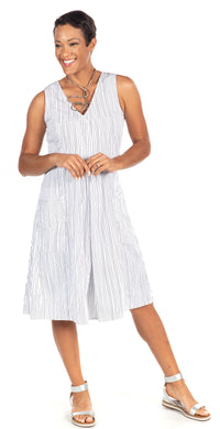 Poppie Dress in Jitter Stripe