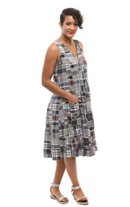 Poppie Dress in Annapolis Madras