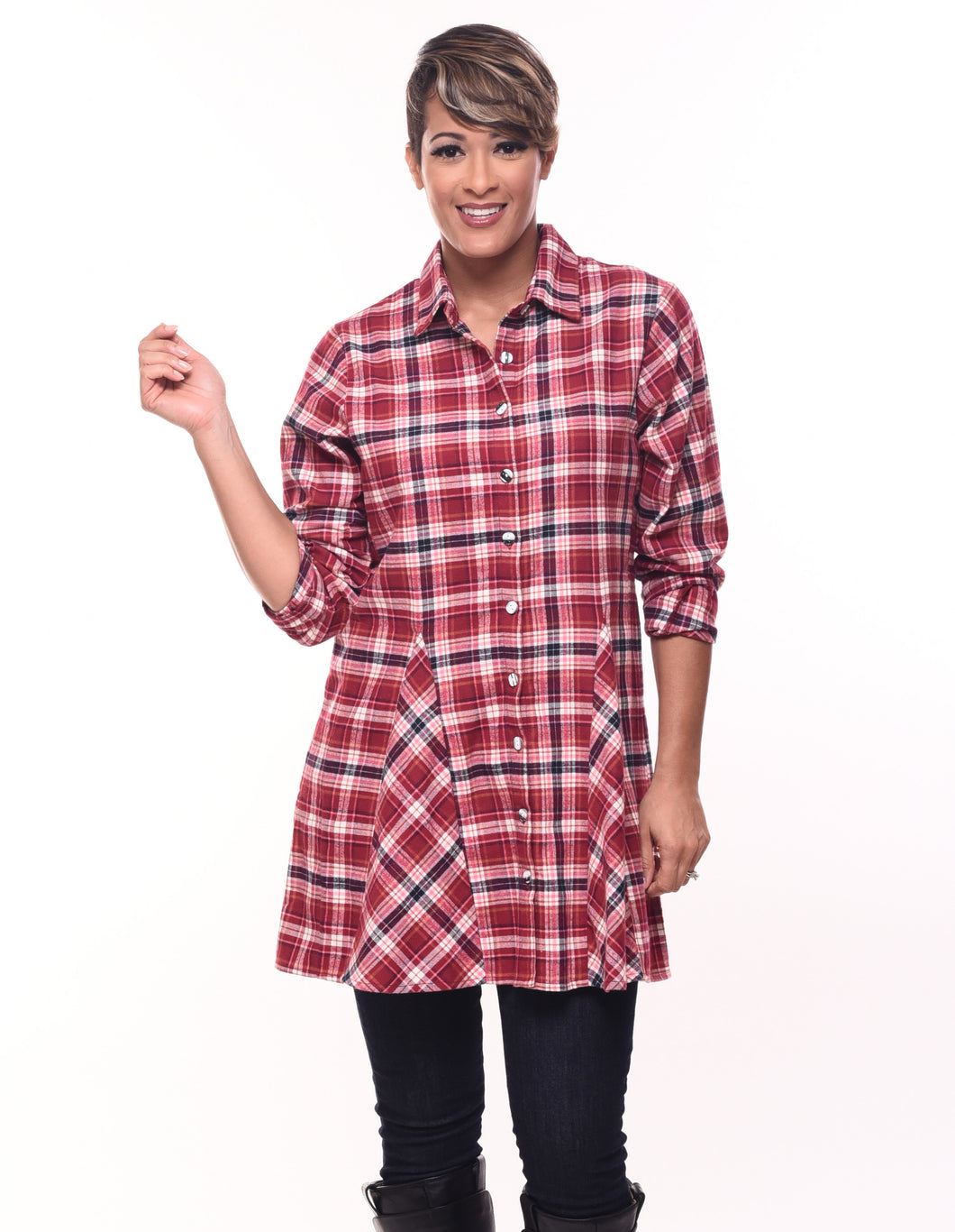 Zoe in Christie Plaid