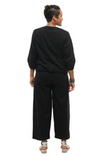 Metro Pant in Solid Black Cotton
