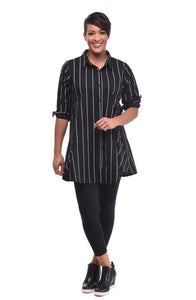 Dinah in Black Metro Stripe by Snapdragon & Twig