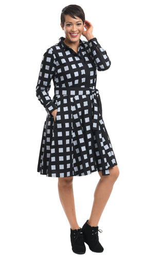 Quinn in Black Gray Checkers by Snapdragon & Twig
