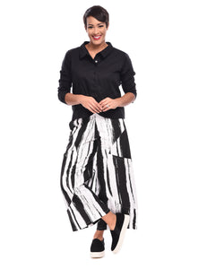Portia Pant in Taper Stripe by Snapdragon & Twig