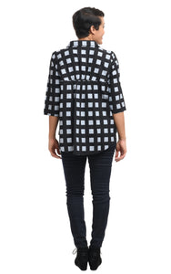 Whitney in Black Gray Checkers by Snapdragon & Twig