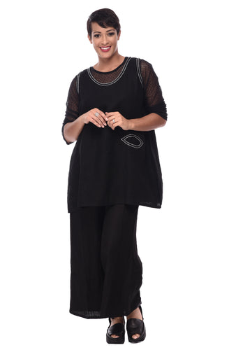 Trina in Black by Snapdragon & Twig (linen)