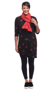 Emilia in Black Red Thumbprint by Snapdragon & Twig (Modal)
