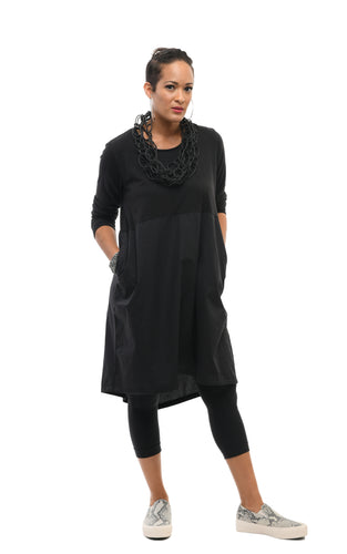 Ezra Dress in Black by Snapdragon & Twig