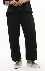 Laila Lounge Pant in Black Cotton by Snapdragon & Twig (Modal)