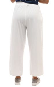 Laila Pant in Cream Cotton by Snapdragon & Twig (Modal)
