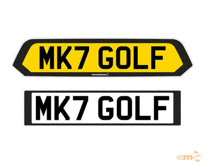 Bespoke Number Plates - Mk7 & 7.5 Golf - mountune52