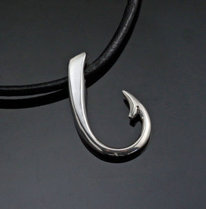 Sterling Silver Large Hook Necklace