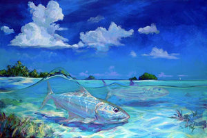 """Caribbean Grand Slam"" Triptych by Mike Savlen"