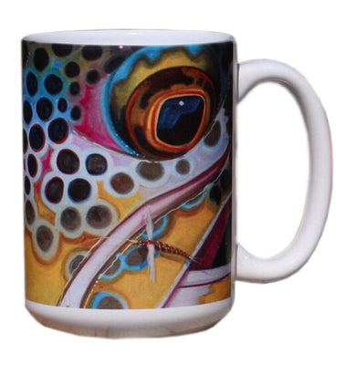 Face Series Mug - Brown Trout