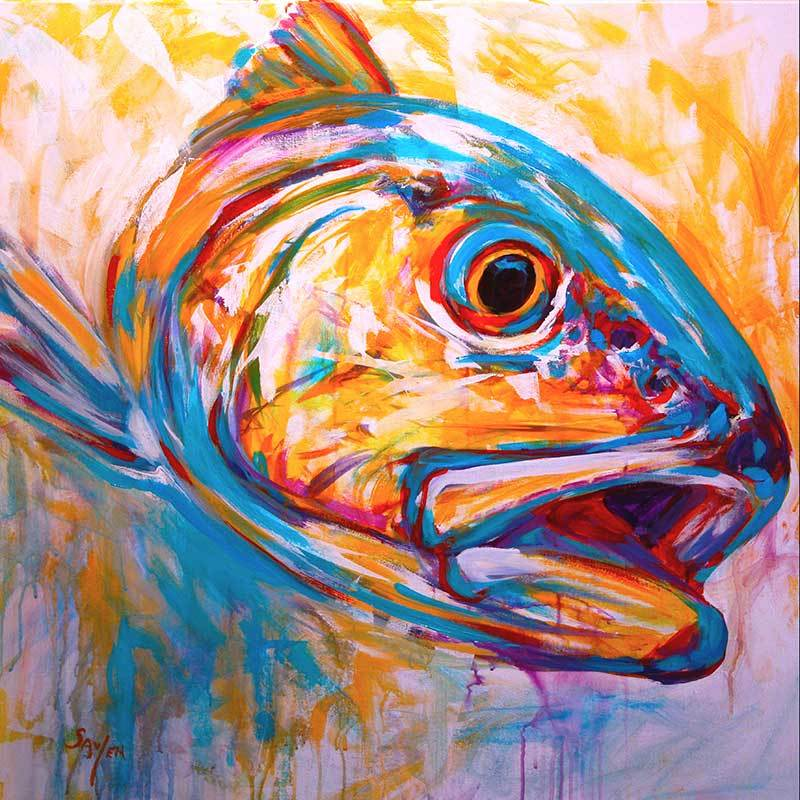 """Expressionist Redfish"" by Mike Savlen"