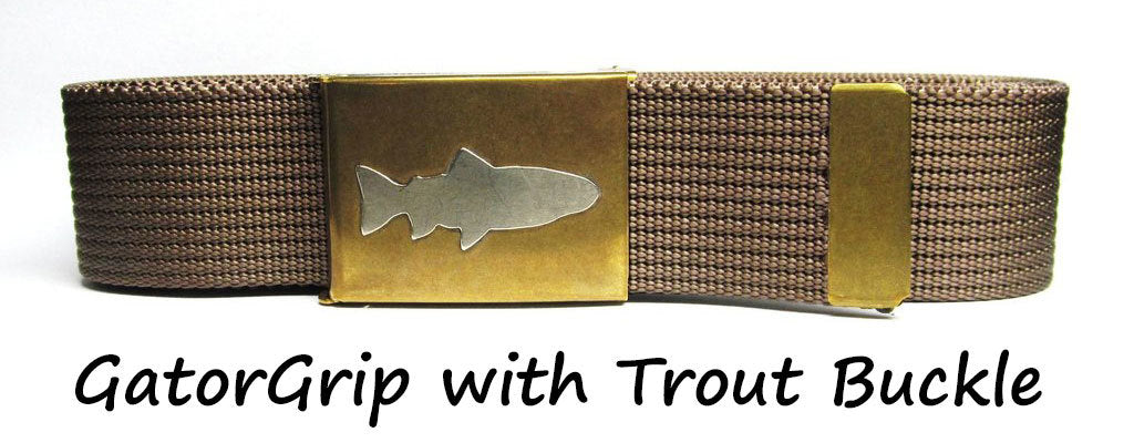 GatorGrip Fish Belt with Handcrafted Buckle