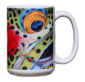 """Face Series Mug - Rainbow Trout"""