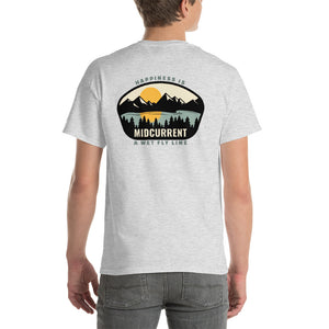 """Happiness Is a Wet Fly Line"" Short-Sleeve T-Shirt"