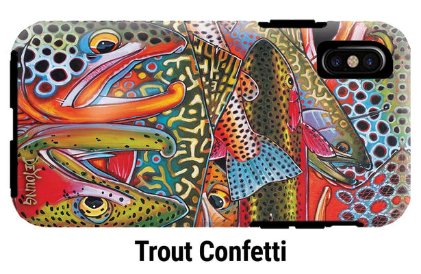Fish Art iPhone Tough Case by Derek DeYoung