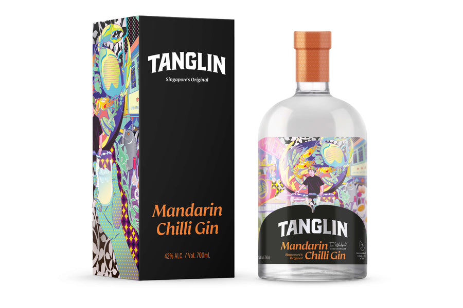Tanglin Mandarin Chilli Gin with box