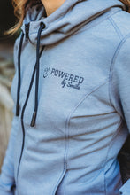 Load image into Gallery viewer, LADIES TRIBLEND FLEECT FULL ZIP HOODIE - Shadow Grey Heather
