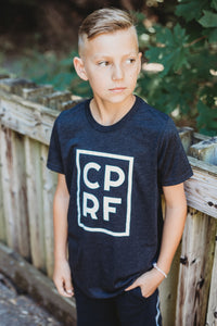 YOUTH TRIBLEND SHORT SLEEVE TEE - Charcoal Black