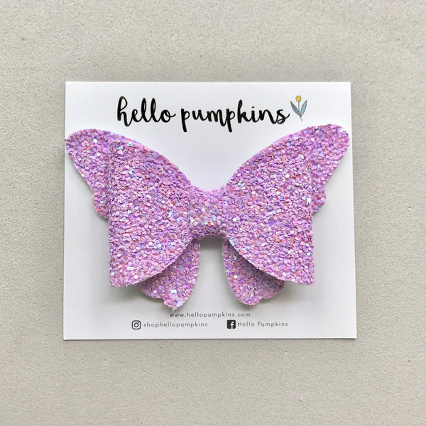 Glitter Flutter Butterfly - Purple
