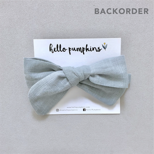 Fay Linen Bow - Sage (Backorder)