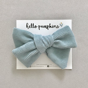 Corduroy Liz Bow Headband - Blue
