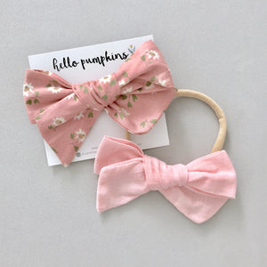 Daisy Dream & Fay Linen Pink Bow Set