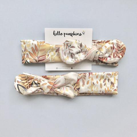 Mousey Knot Headband - Autumn Leaves