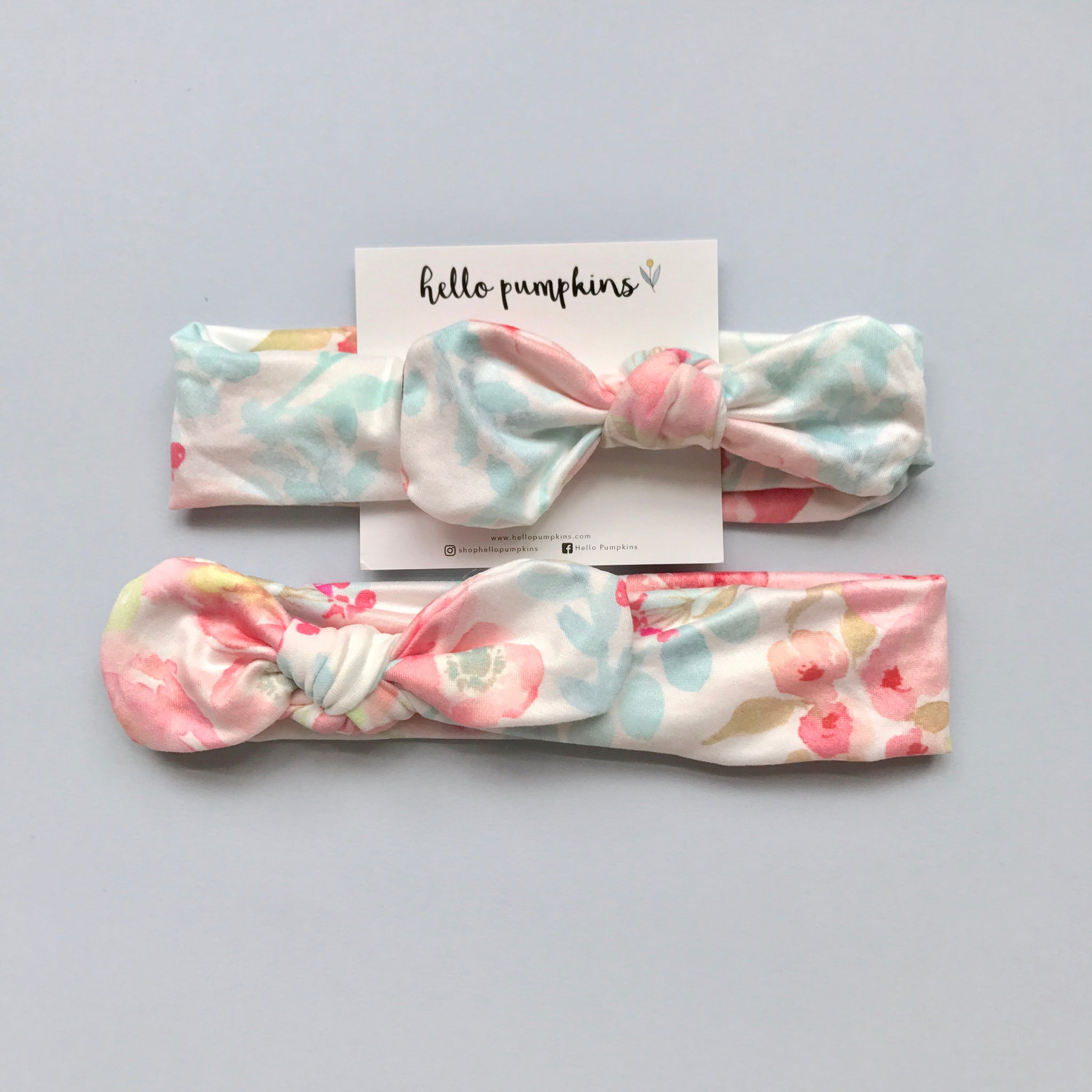 Mousey Knot Headband - Watercolour Florals