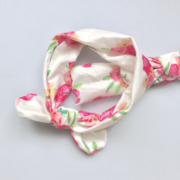 Mousey Knot Headband - Blooming Roses