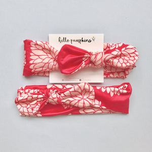 Mousey Knot Headband - Coral Dahlia