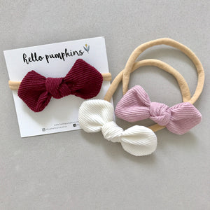 Corduroy Mousey Headband Set - Chic