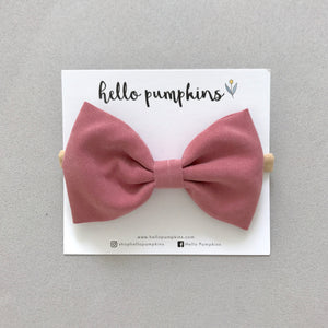 Classic Bow - Dusty Rose