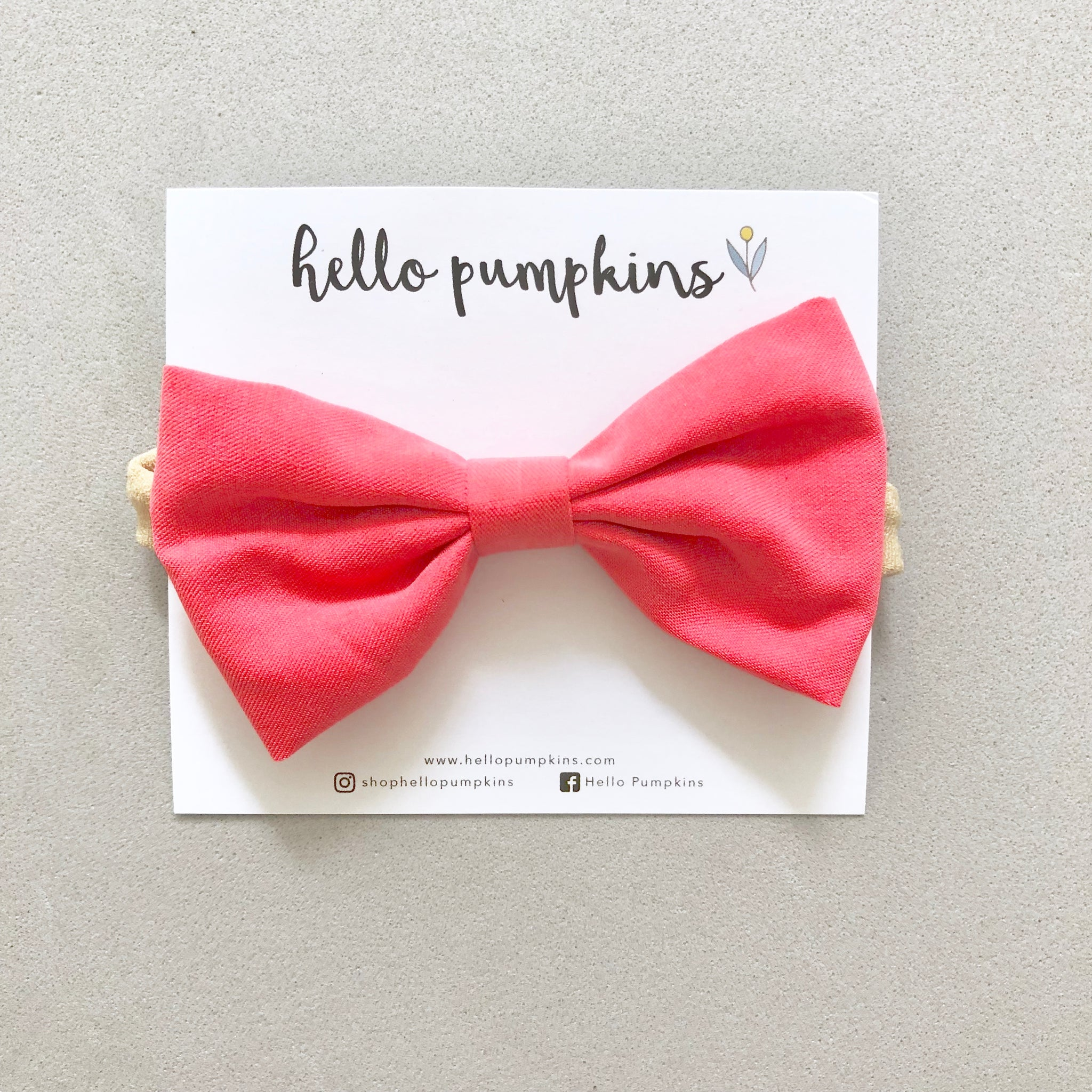 Classic Bow - Coral